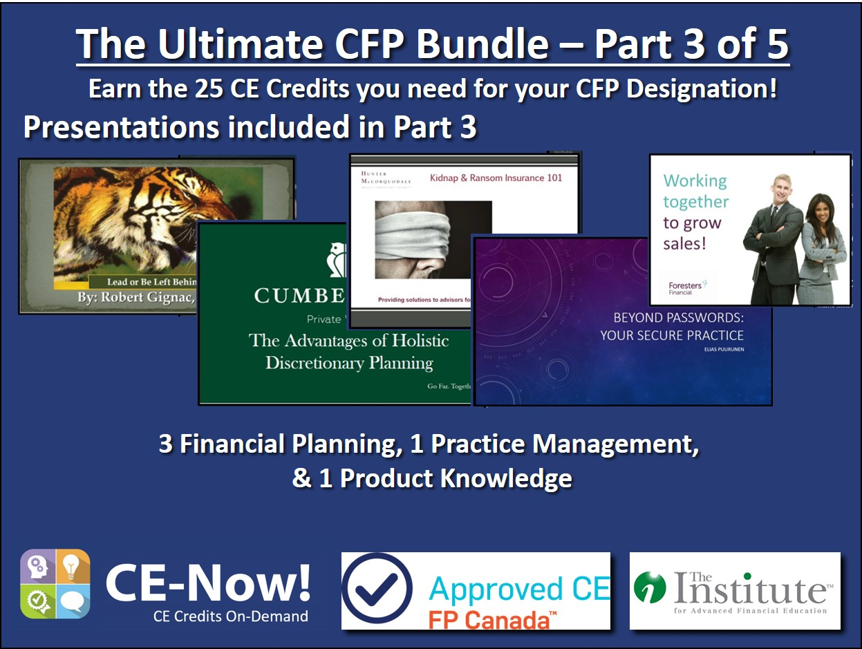 The Ultimate CFP Bundle - Part 3 of 5
