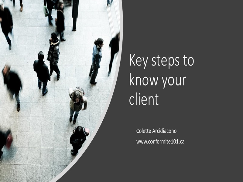 Key steps to  know your client